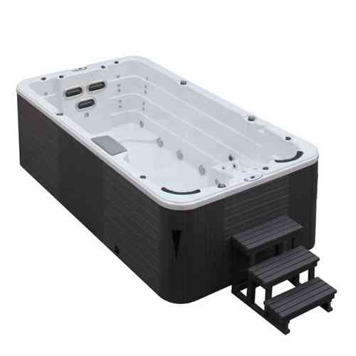 EO-SPA Aussenwhirlpool SWIM SPA Aquacise 4.5 Stearling Silver/450x230/grau